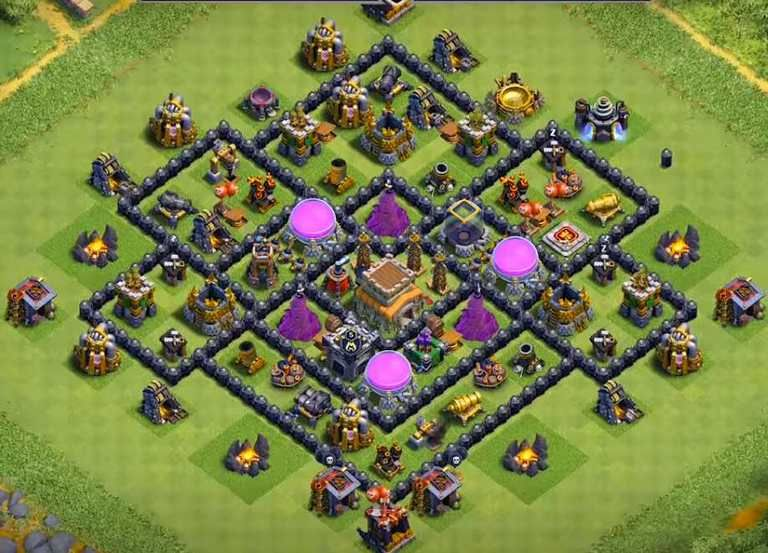 30 Best Th8 Farming Base Links 2021 New Anti Everything Clash Of Clans Trophy Base Farm