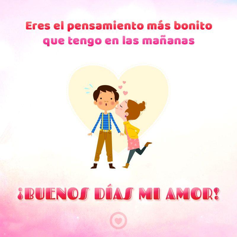 Linda Tarjeta De Buenos Dias De Amor Mensajes De Buenos Dias