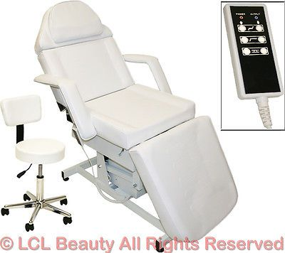 Spa Pedicure Chair Ebay >> White Electric Massage Facial Table Bed Chair Barber Beauty Spa
