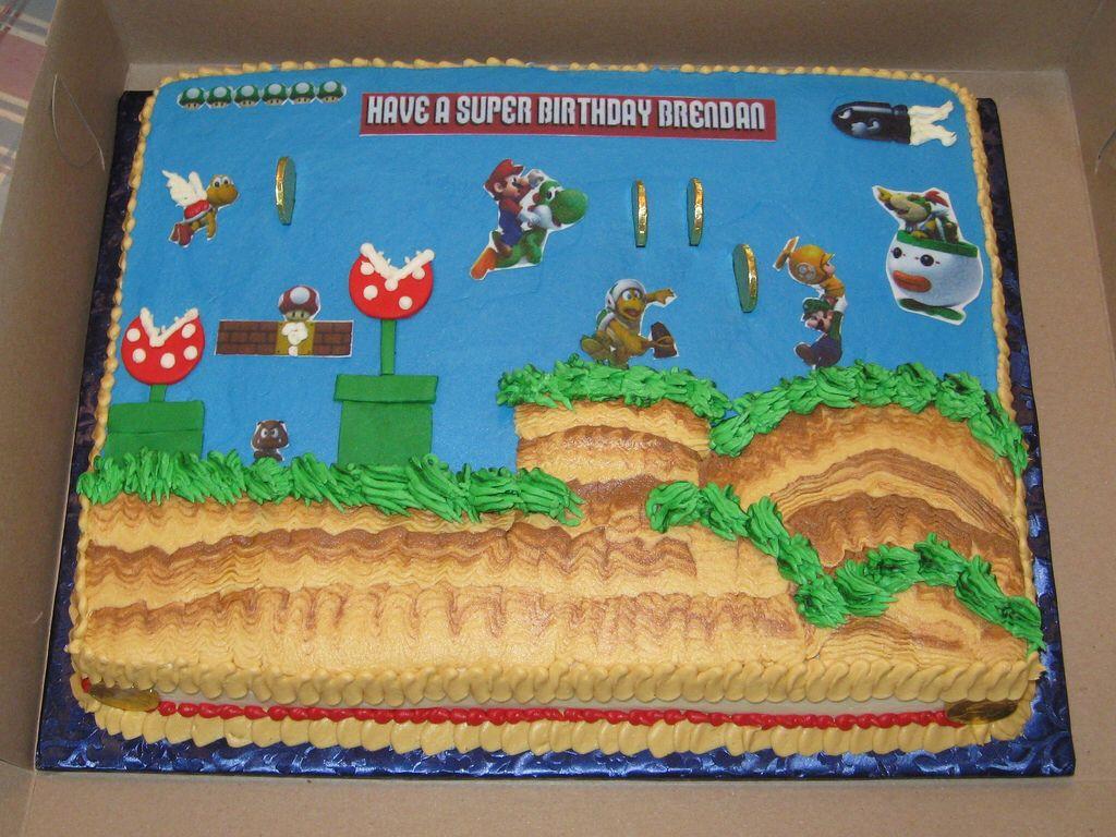 Yoshi and Mario Cake Video Game Cake