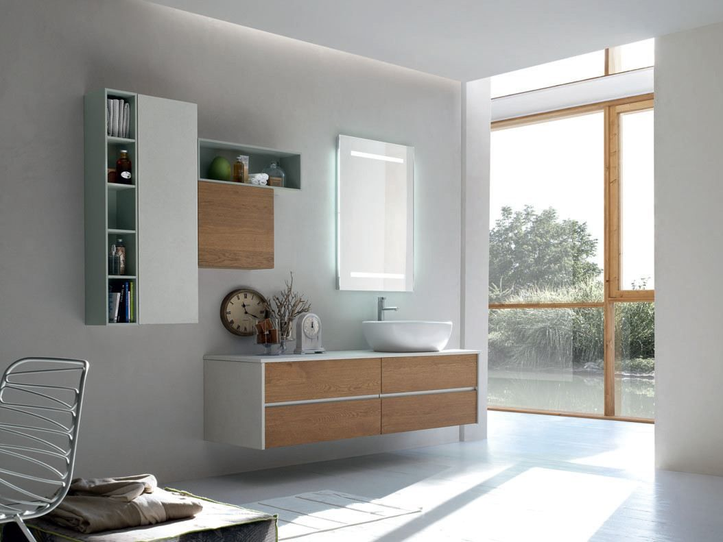 Bathroom Cabinet / Vanity Unit POLLOK YAPO   COMPOSITION 43 Pollok Yapo  Collection By Arcom