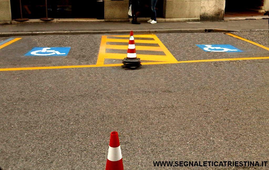 primo parcheggio disabile a Trieste come da DPR 151 del 30/07/2012