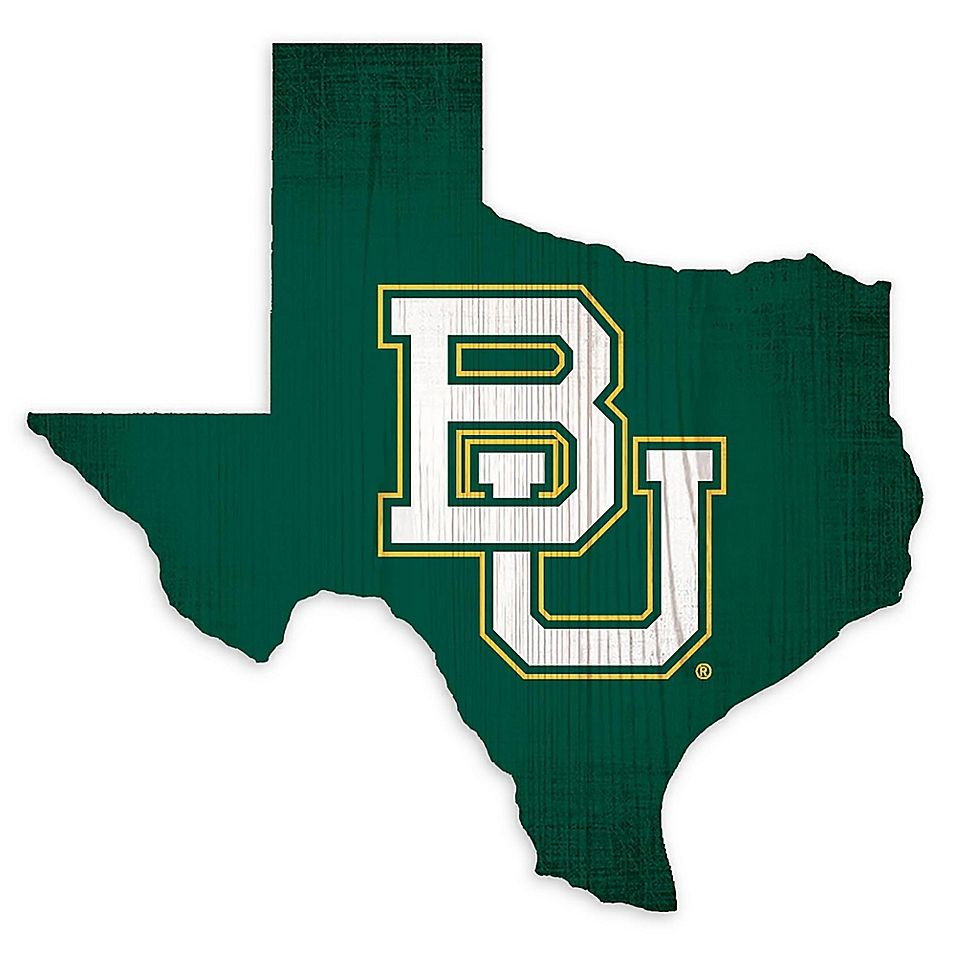 Baylor University Team Color Logo State Sign Multi In 2021 Baylor University Logo Baylor University Baylor University Shirt