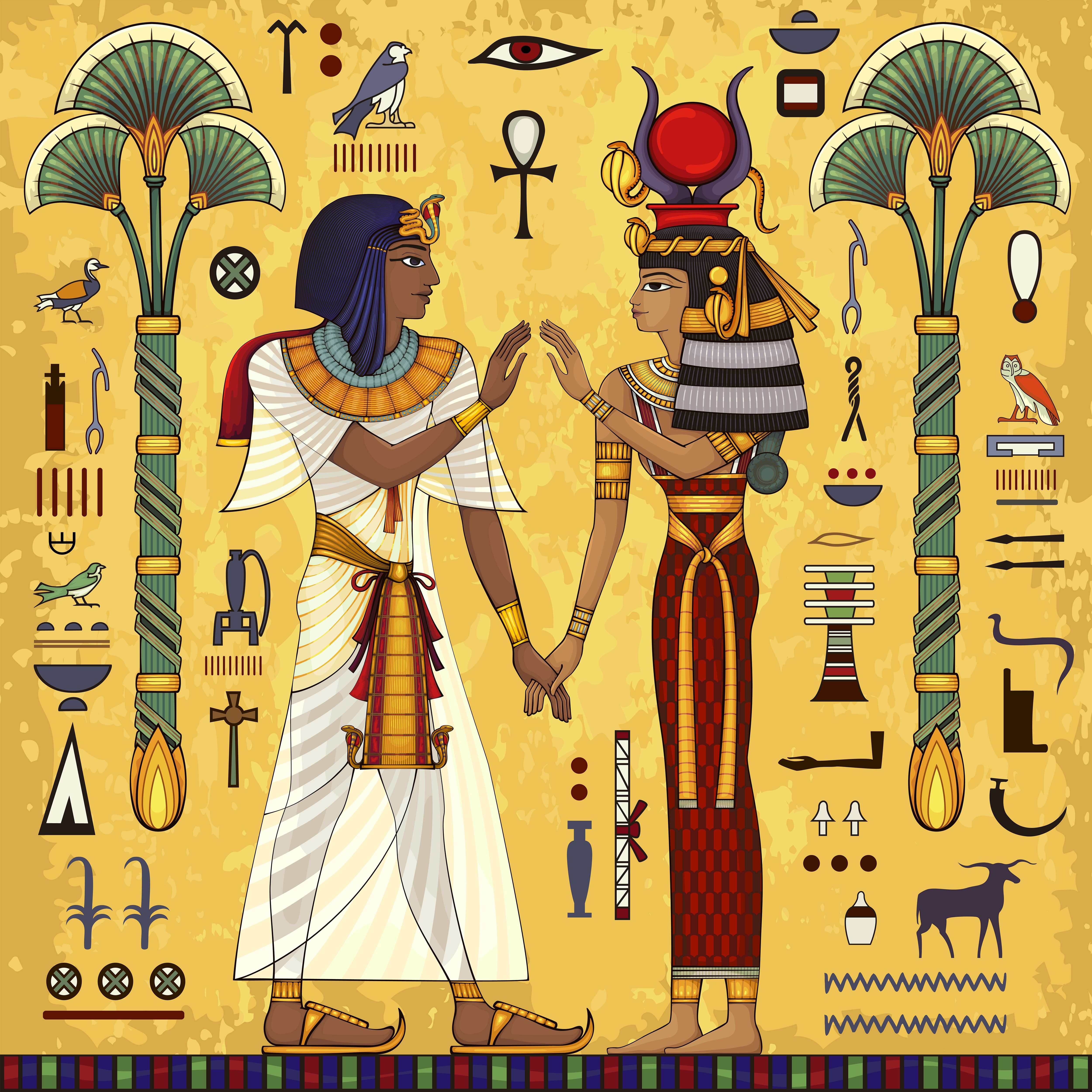 Egyptian Hieroglyph And Symbolancient Culture Sing And