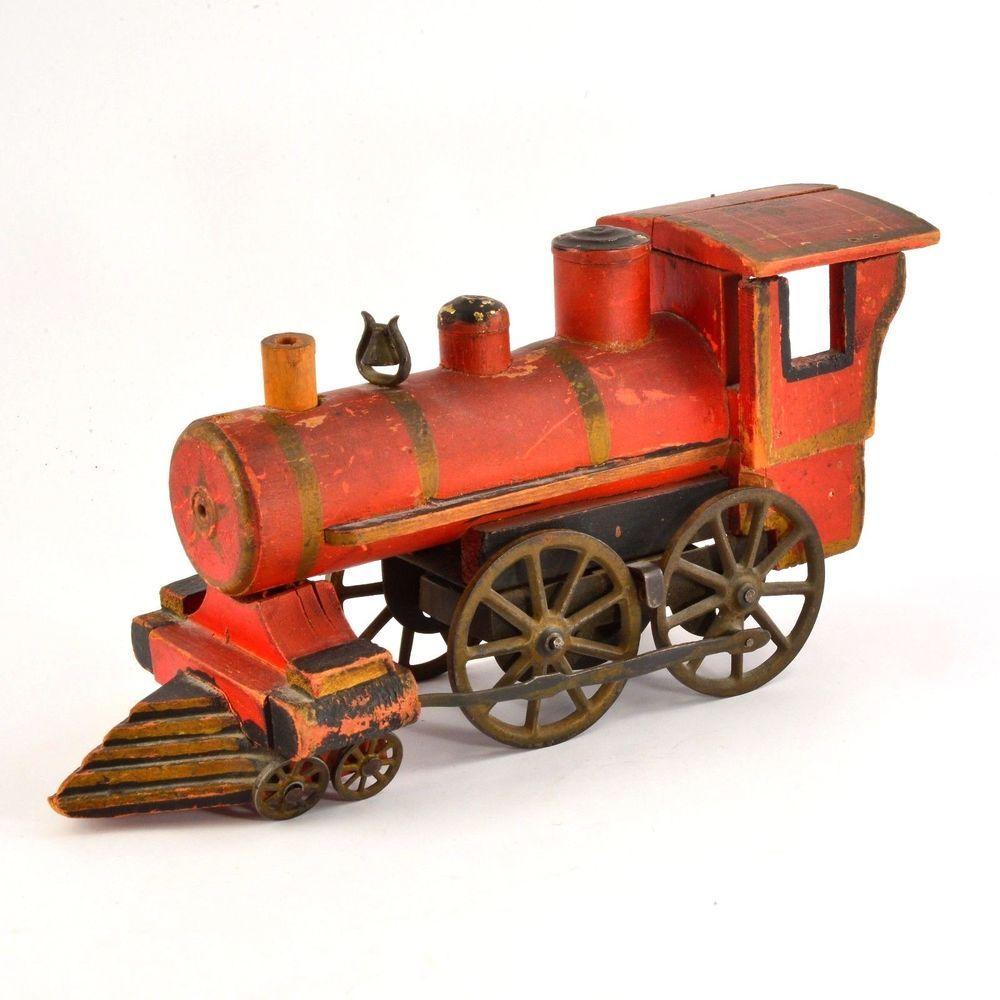1880 Antique Wooden Steam Engine Locomotive Model Train Engine Working Rare Model Trains Train Engines Engine Working