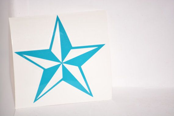 Nautical star precision cut vinyl car window decal by weirdlyitsme 3 89