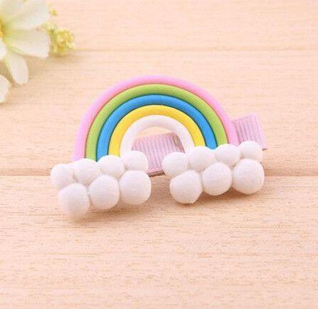 cute rainbow candy hairpin girls kids hair clip bows barrette accessories for children headdress hairclip ornaments headwear