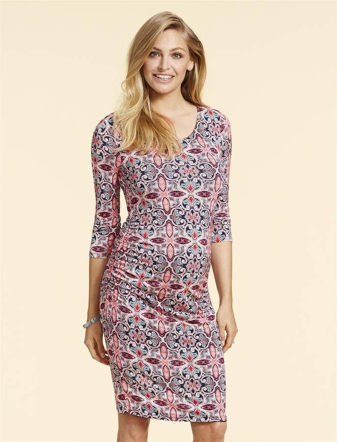 eb4e4140e8ba Jessica Simpson Side Ruched Maternity Dress | Products | Maternity ...