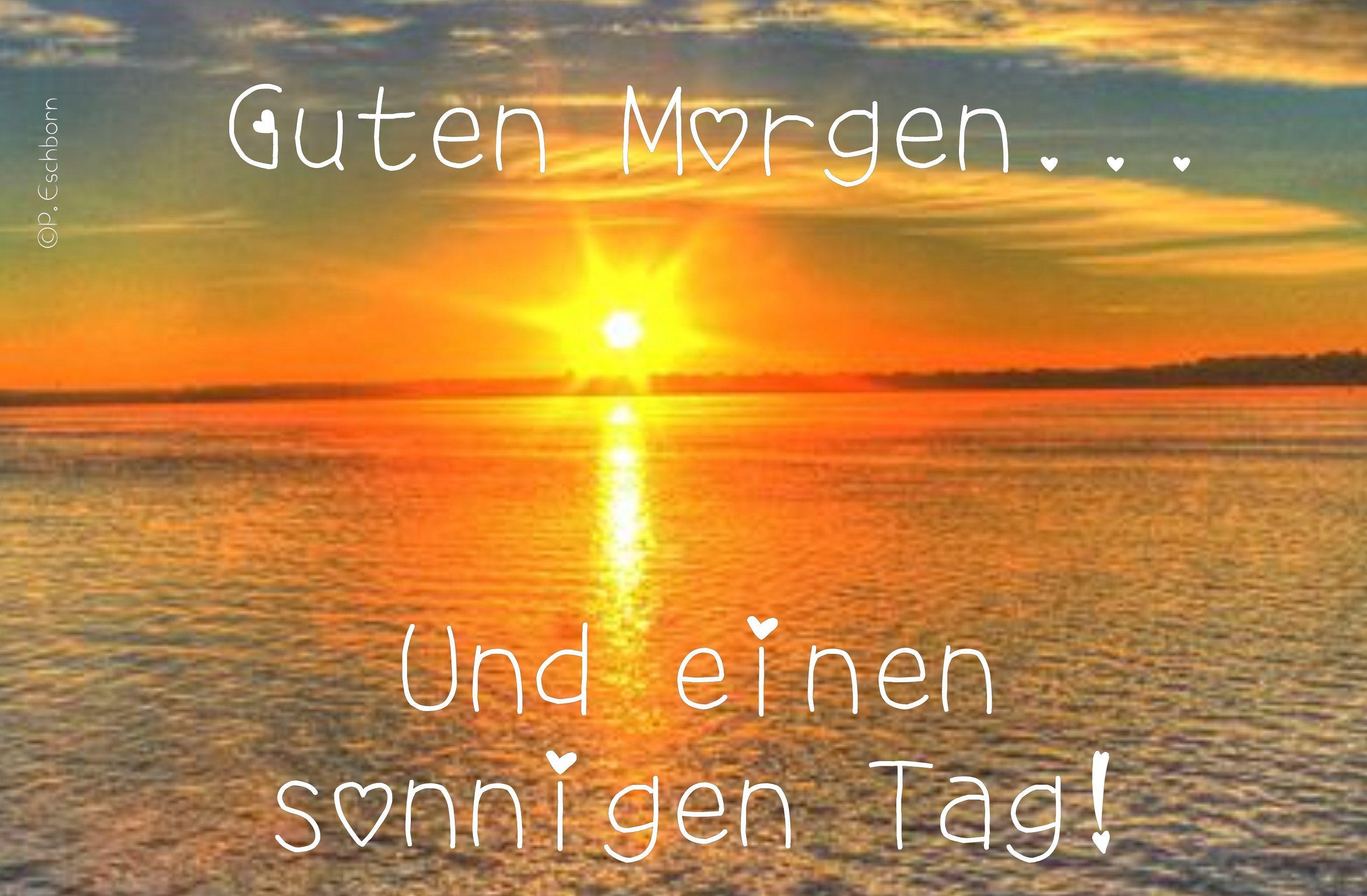 Einen und guten tag sonnigen morgen schönen guten morgen
