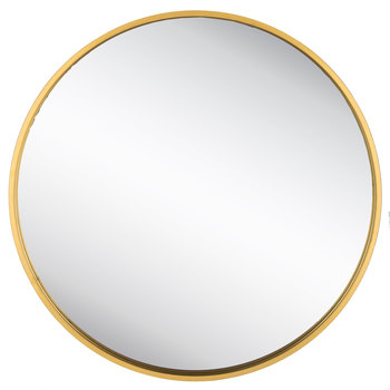 Round Gold Metal Wall Mirror In 2020 Mirror Wall Round Gold Mirror Gold Circle Mirror