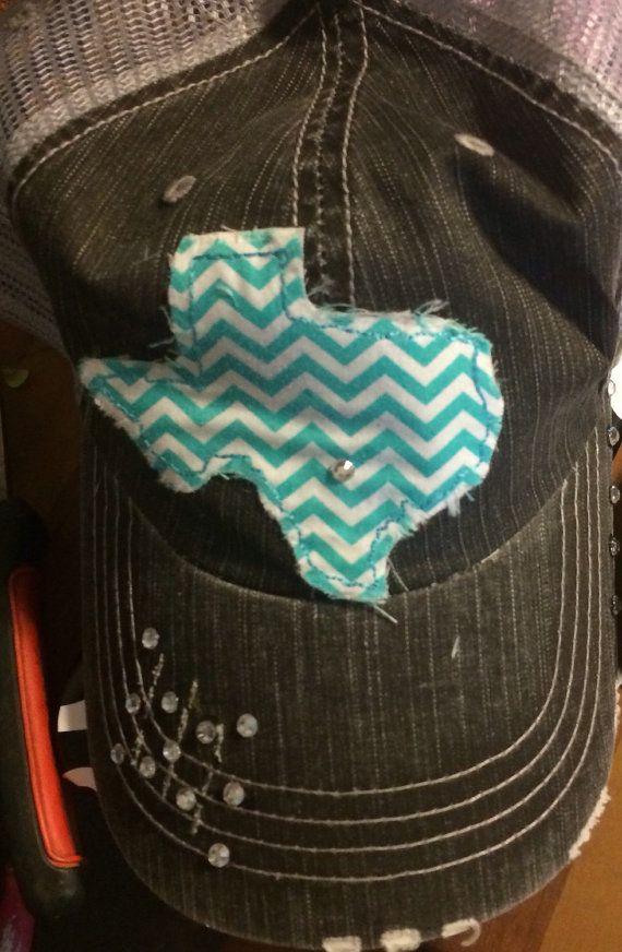 39da1b2ef16 Raggy Texas Trucker Hat by HaydensHaven on Etsy
