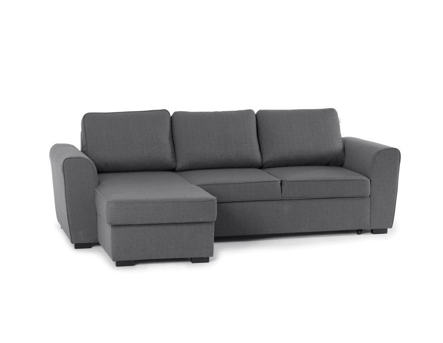 Grey Interchangeable Sectional Sofa Bed With Storage