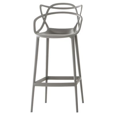 Masters Stool By Kartell Grey Bar Open Box Return Bar Stools Patio Bar Stools Philippe Starck