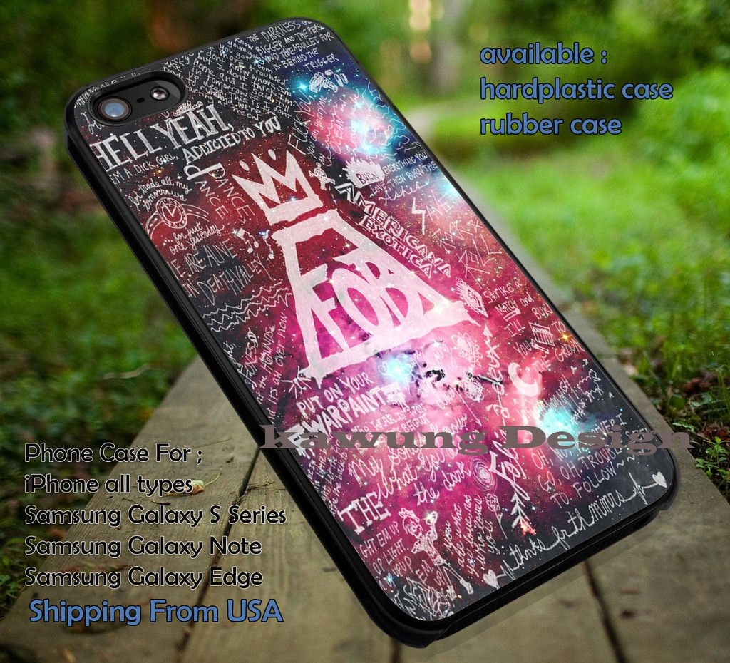 Fall Out Boy Lyrics Collage Galaxy iPhone 6s 6 6s  5c 5s Cases Samsung Galaxy s5 s6 Edge  NOTE 5 4 3 #music #fob dt