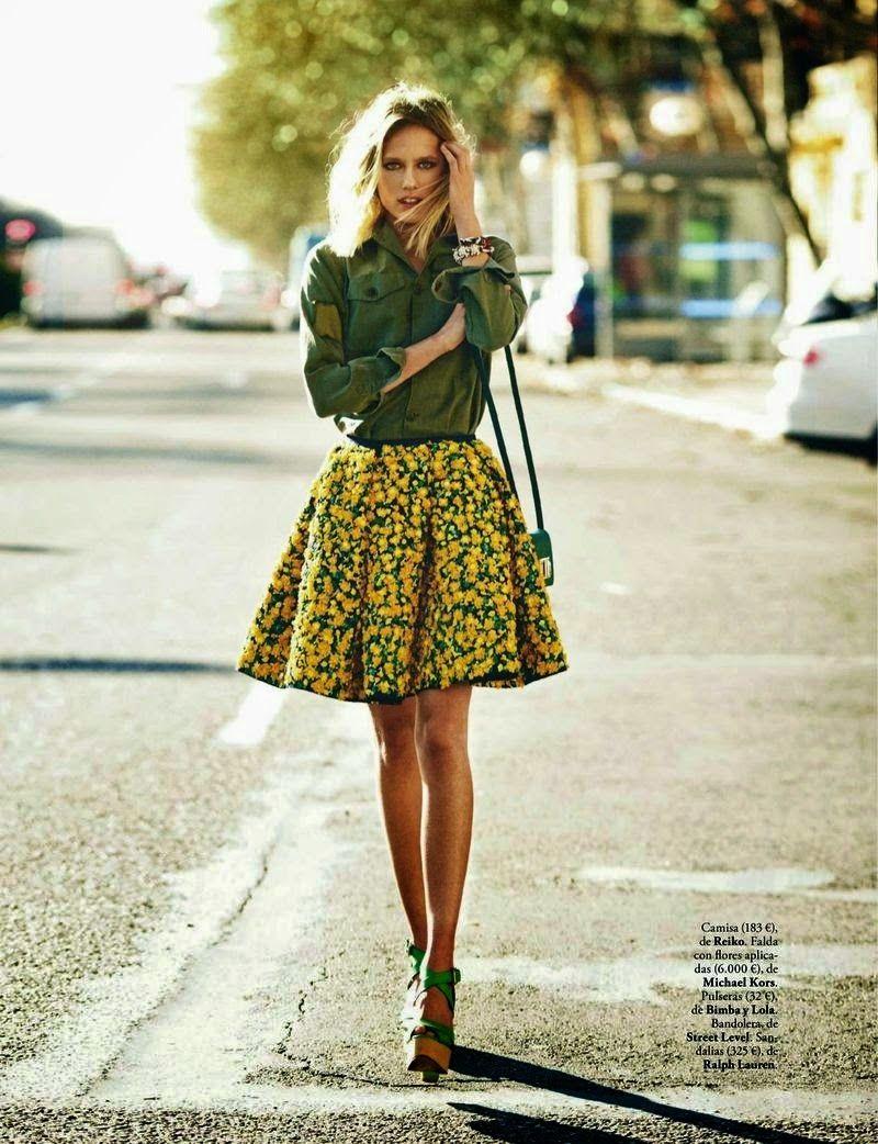 Tosca Dekker by Mario Sierra for ELLE Spain April 2015