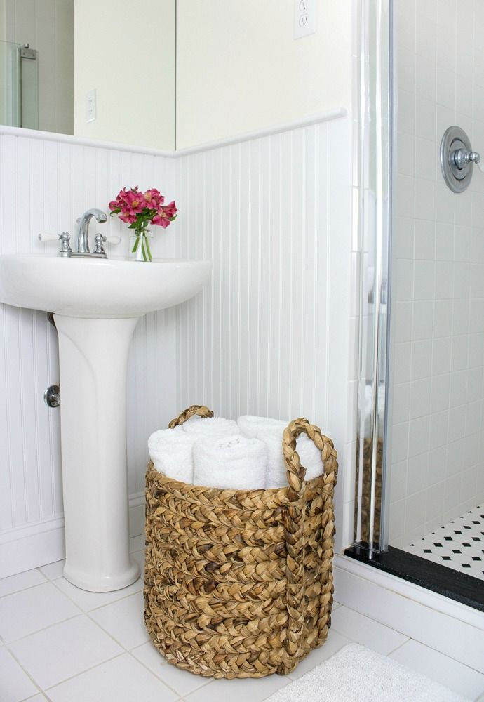 One Beautiful Basket Eight Everyday Uses Towel Storage Small Bathroom Storage Bathroom Baskets