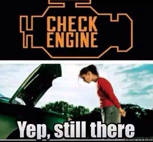 Check Engine #Car, #Engineer, #Funny, #Girls, #Woman