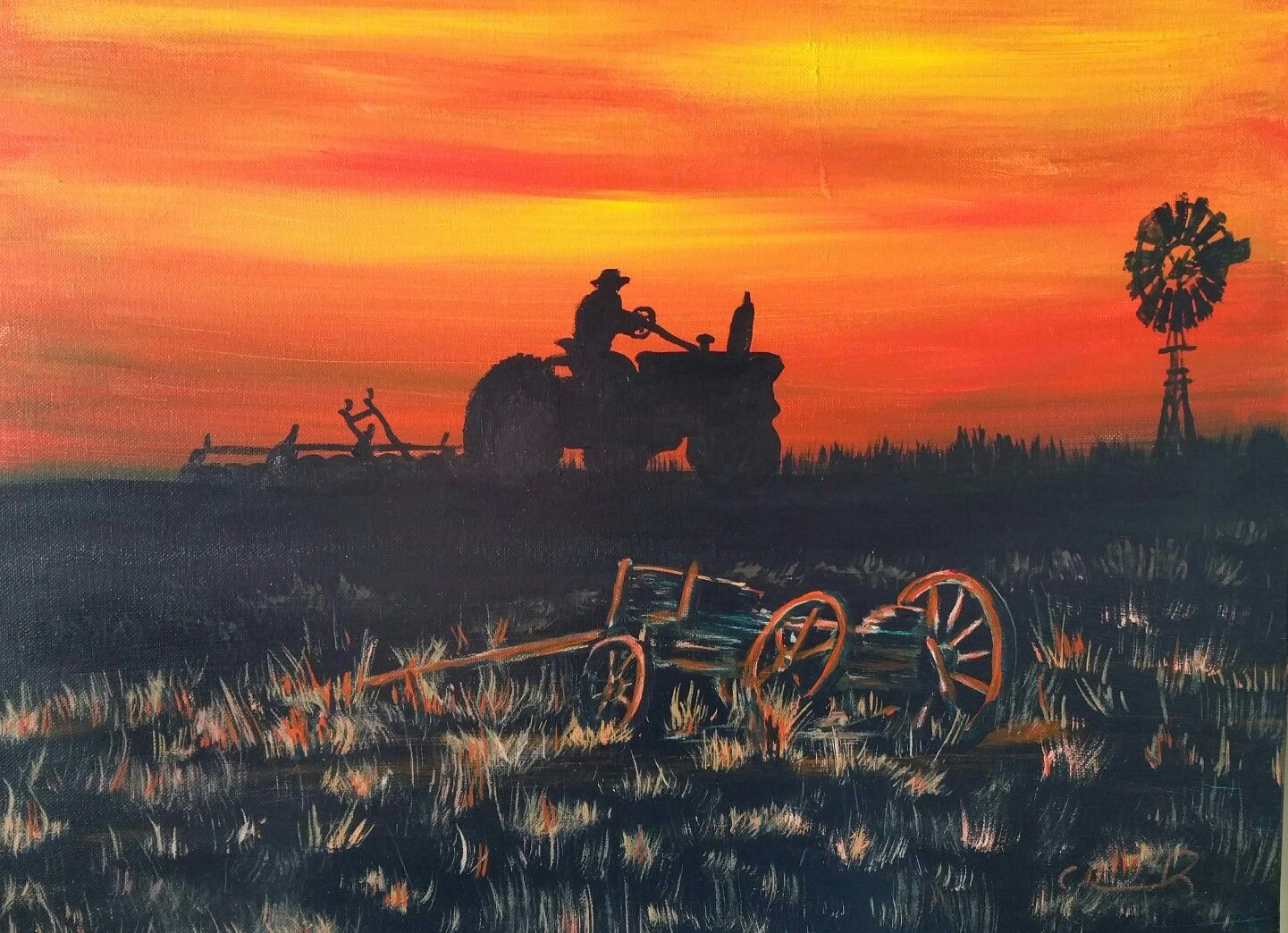 """Perseverance"", Acrylic on canvas,18x24"