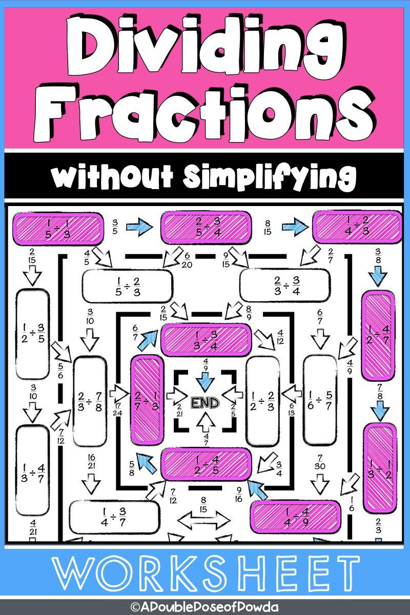 Dividing Fractions Worksheet Level 1 No Simplifying Required Distance Learning Fractions Worksheets Dividing Fractions Dividing Fractions Worksheets