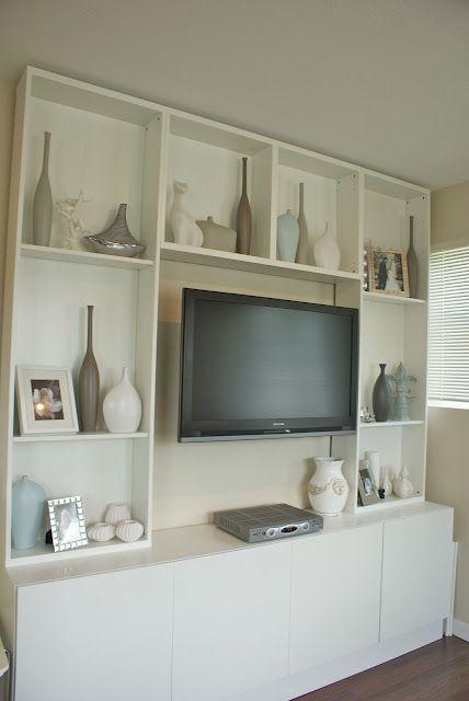 Media Cabinet Shelves Around Tv