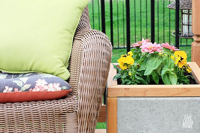 DIY Paver Planter Box.  #DIHWorkshop Project with tutorial at www.livelaughrowe.com