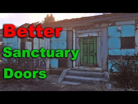 Fix Sanctuary Houses Add Roofs Walls Doors Fallout 4 Tips Tricks Ep 1 Youtube Sanctuary House Fallout 4 Tips Sanctuary