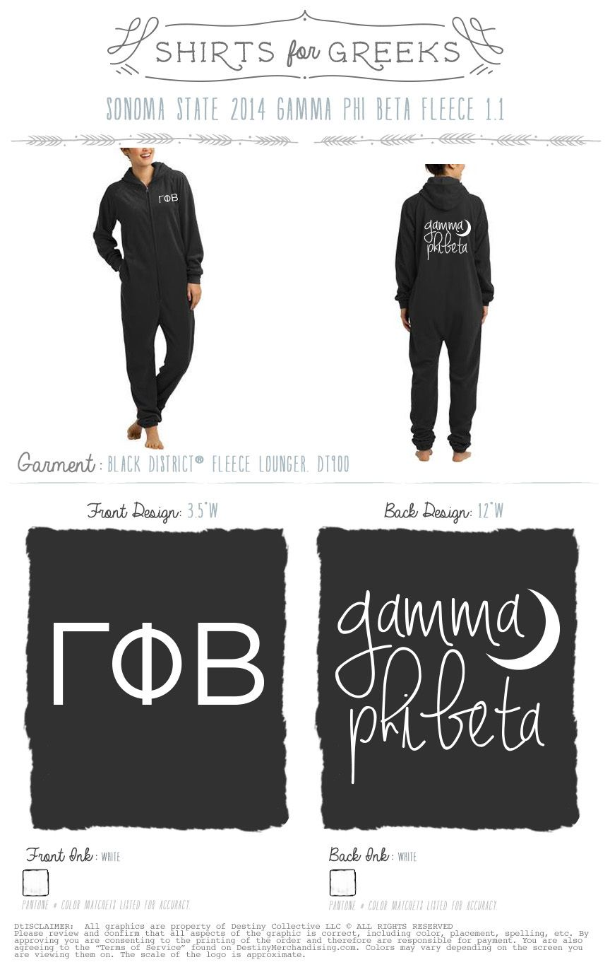 G PHI ONESIE WHAT This is a presale order that will be shipped 3 weeks after the link has closed! This is part of a group buy order that must reach a minimum before production starts once the link closes!