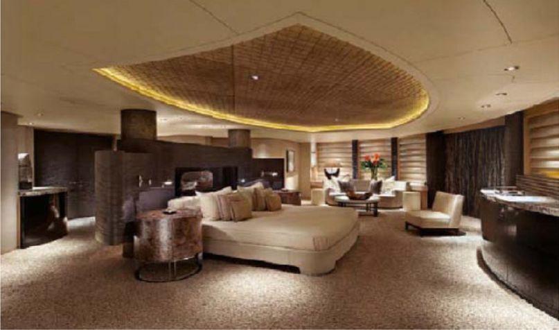 Innenarchitektur Yacht bedroom aboard 370 600 000 yacht eclipse 807x406