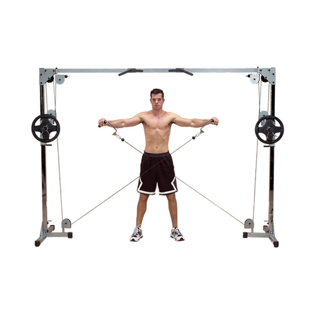 At Home Gym Workout Powerline Cable Crossover Exercise Training Machine Tower Athomegym No Equipment Workout At Home Gym Workout Machines