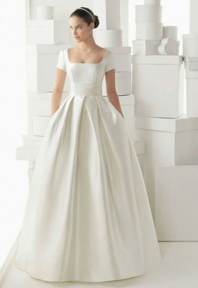 The Simplicity Of This White Gown Is Lovely Ball Gown Wedding
