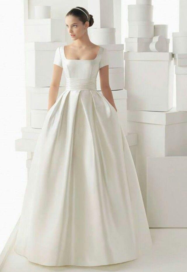 vestido novia escote cuadrado palabra de www.palmiracompilar