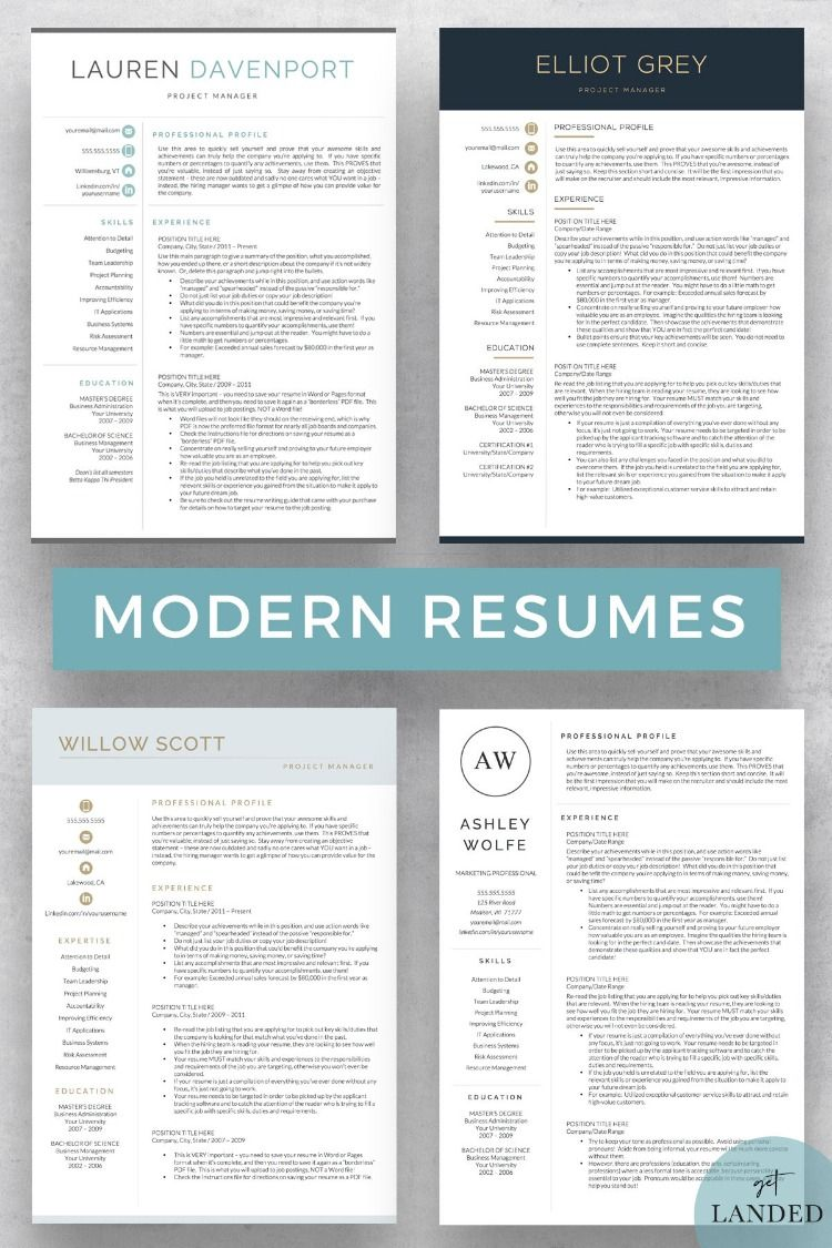 Modern Resume Designs That Help You Immediately Stand Out While