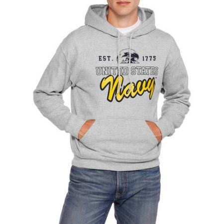 Military Officially Licensed Men's Air Force Fleece Hoodie, Size: Medium, Gray