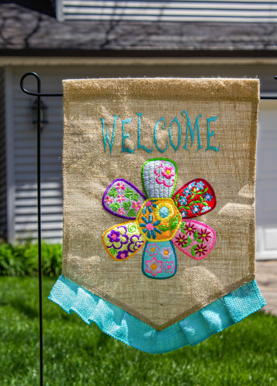 Welcome Flag Garden Diy