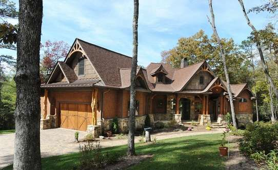 Wood And Stone Love Dream House Plans House Plans House Styles