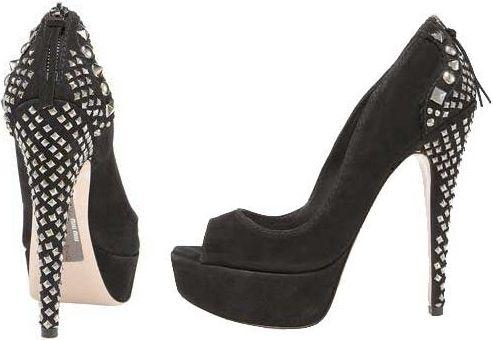 Miu Miu studded peep-toe heels