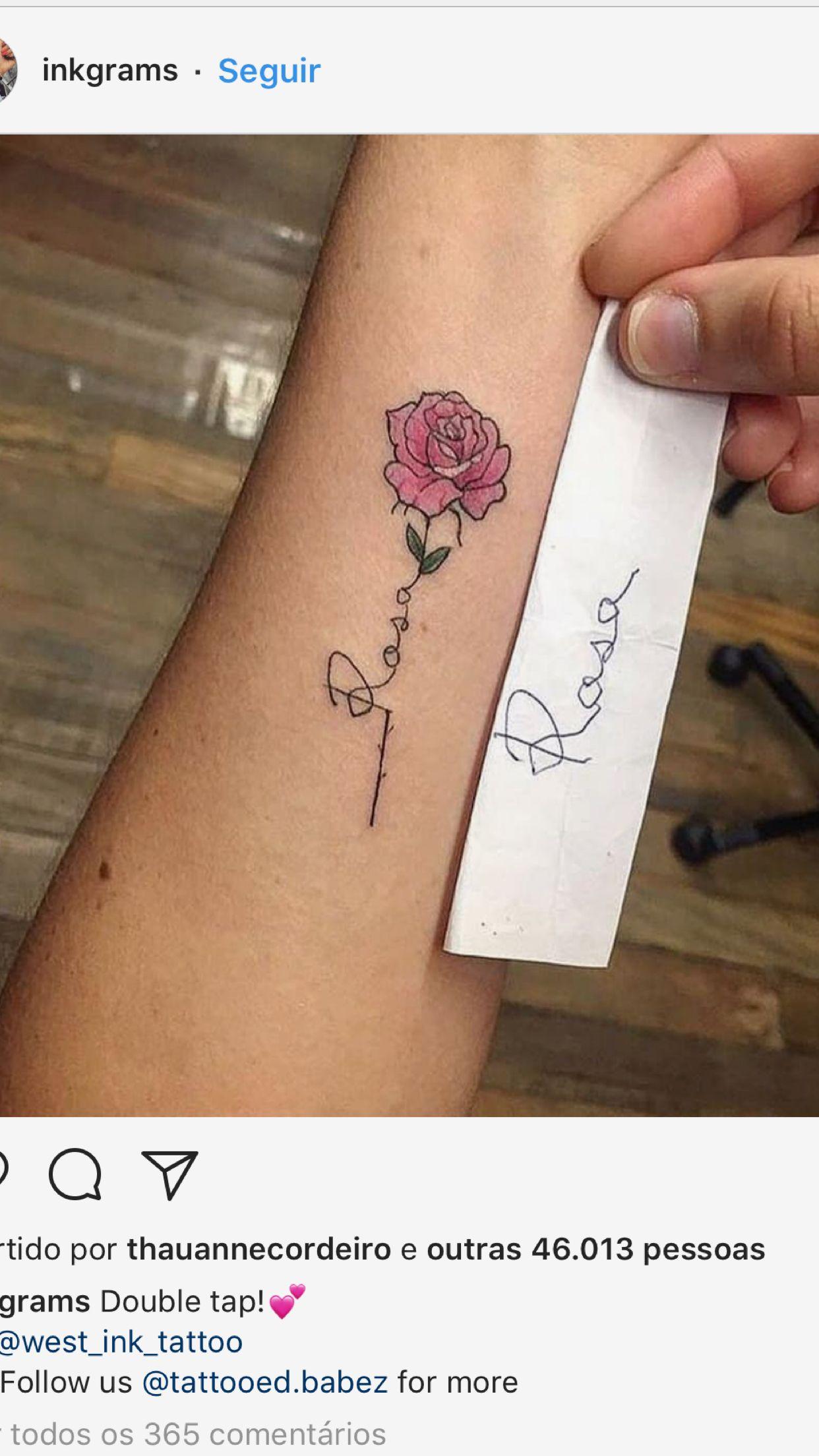 Pin Von Mimi W Auf Tattoos Rose Tattoo Unterarm Kleine Rose