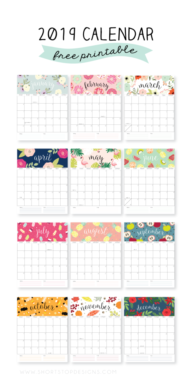 2019 printable calendar english pinterest calendar calendar