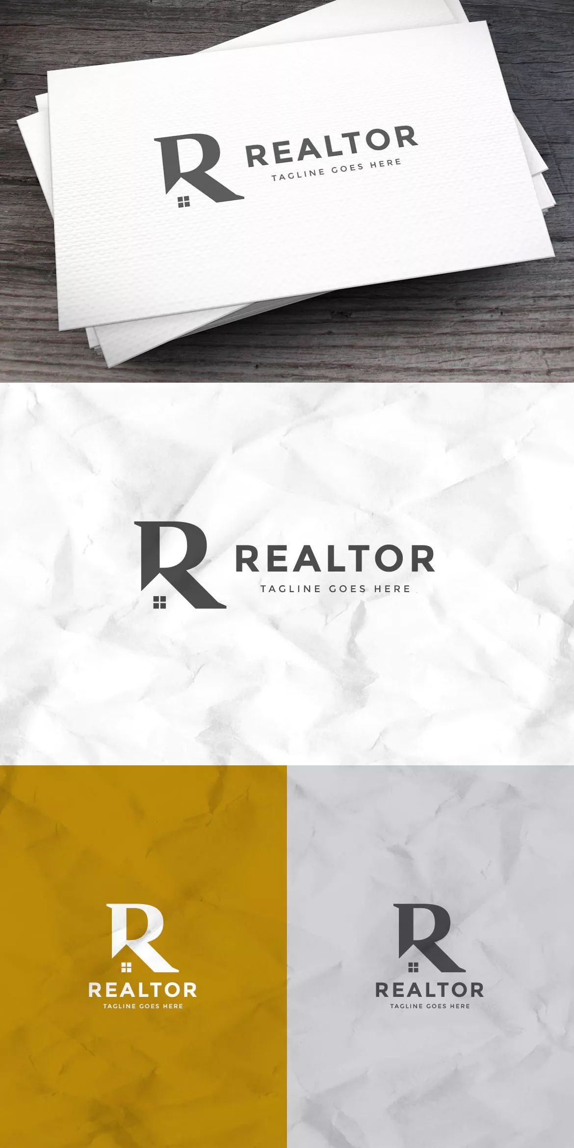 Realtor Logo Letter R Template AI, EPS. Download (With