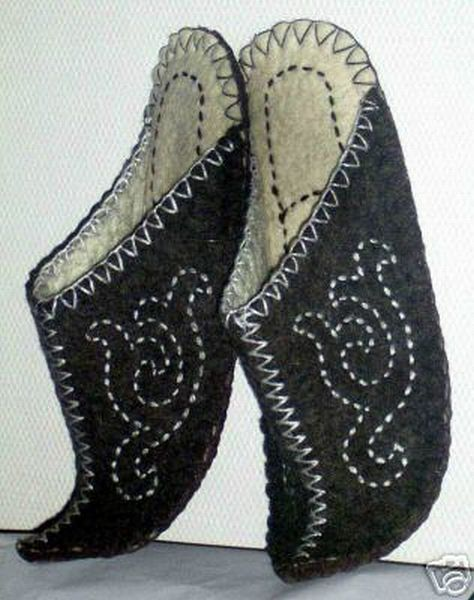 Felted Slippers, Felt Shoes, Slippers