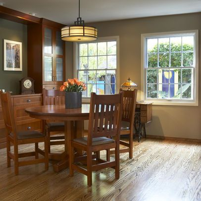 Craftsman Chandelier Dining Room