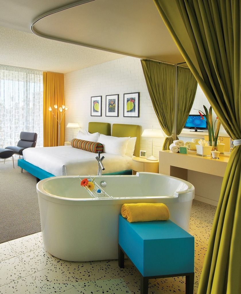Studio guest room at the hotel valley ho phxmodwk for Hoteles diseno milan