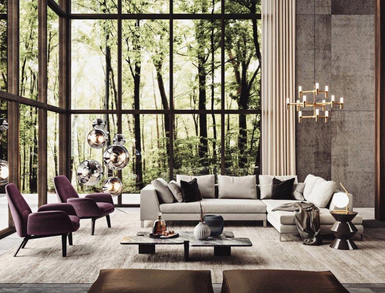 Gorgeous home in the woods interior design magazine room living modern also house rh pinterest