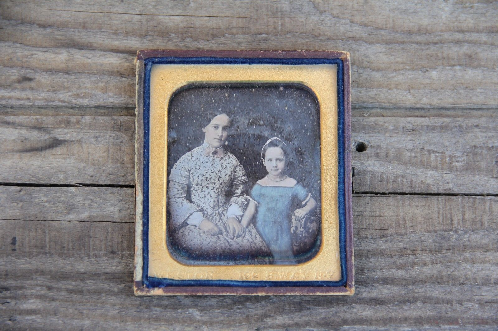 1840s Sixth Plate Fully Colored Daguerreotype Portrait of A Mother and Daughter | eBay