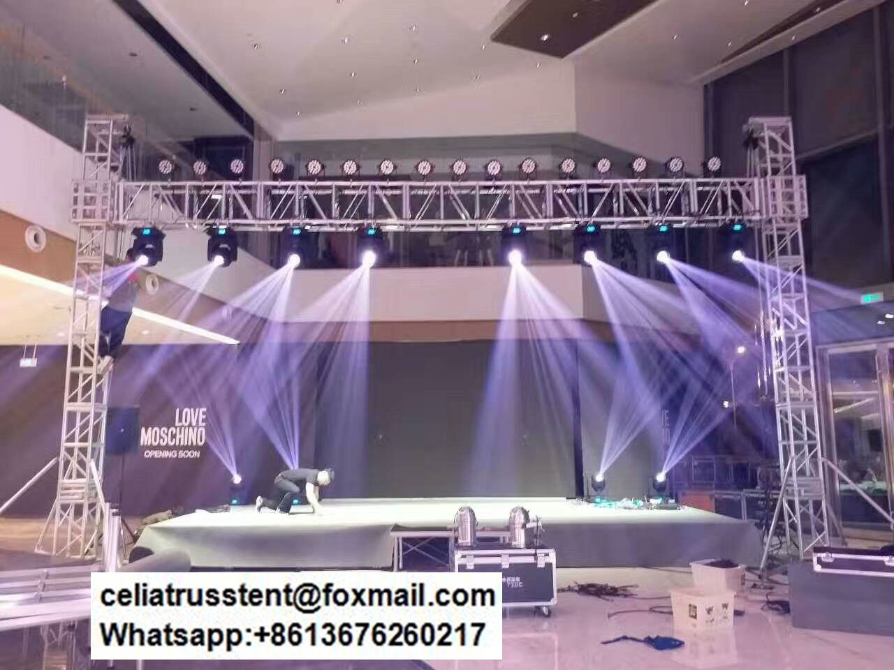 Moving Head Light Truss Stands Lighting Systems In