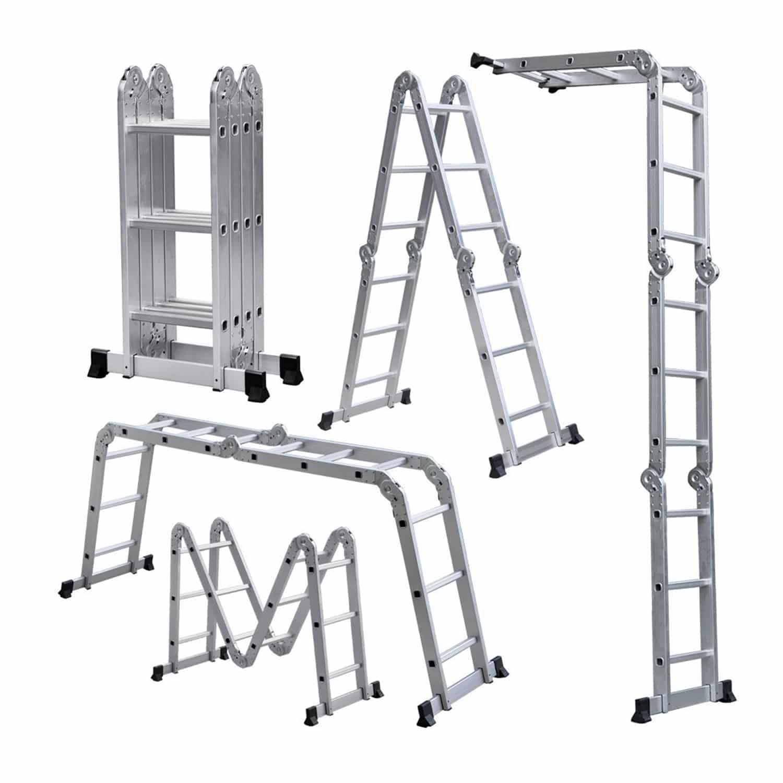Lightweight 12 Aluminum Multipurpose Ladder Multi Purpose Ladder Aluminium Ladder Folding Ladder
