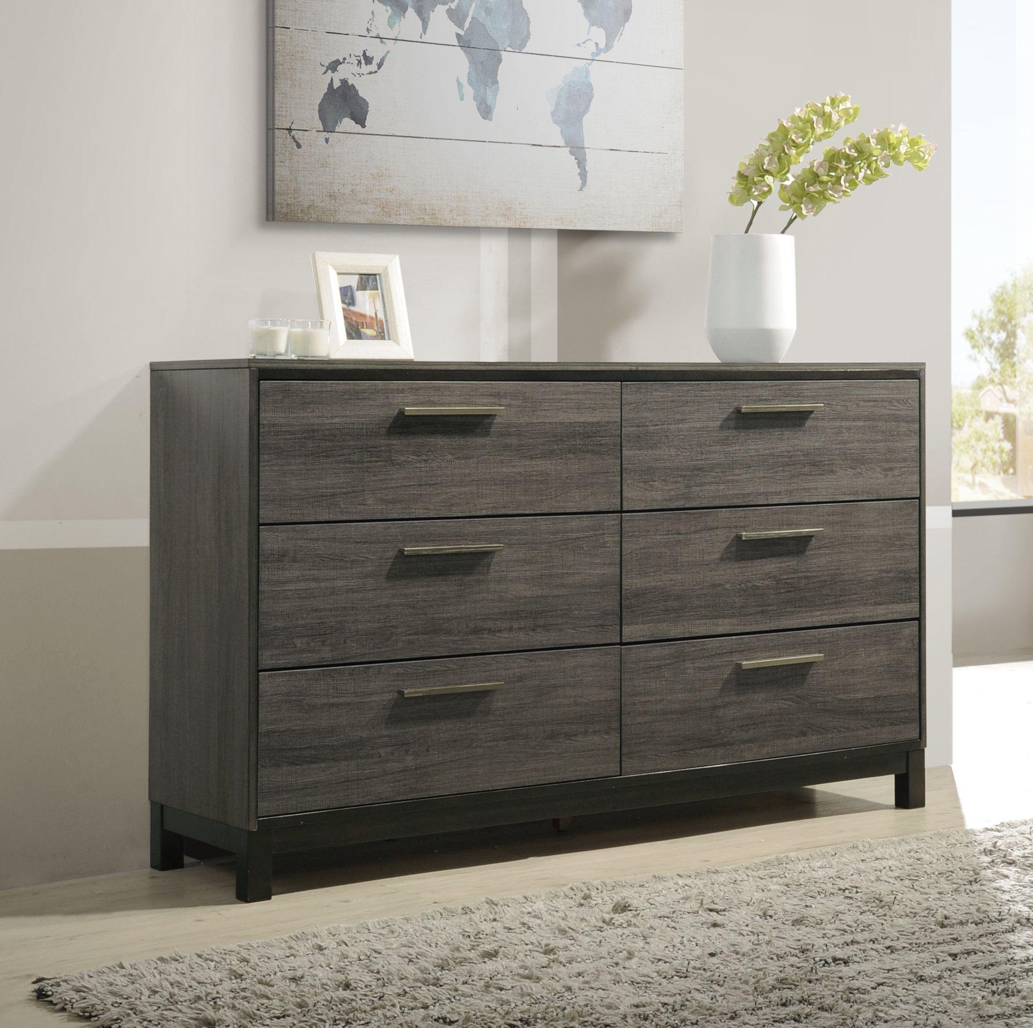 Mandy 6 Drawer Double Dresser Furniture Bedroom Furniture Sets 5 Piece Bedroom Set [ 2011 x 2022 Pixel ]