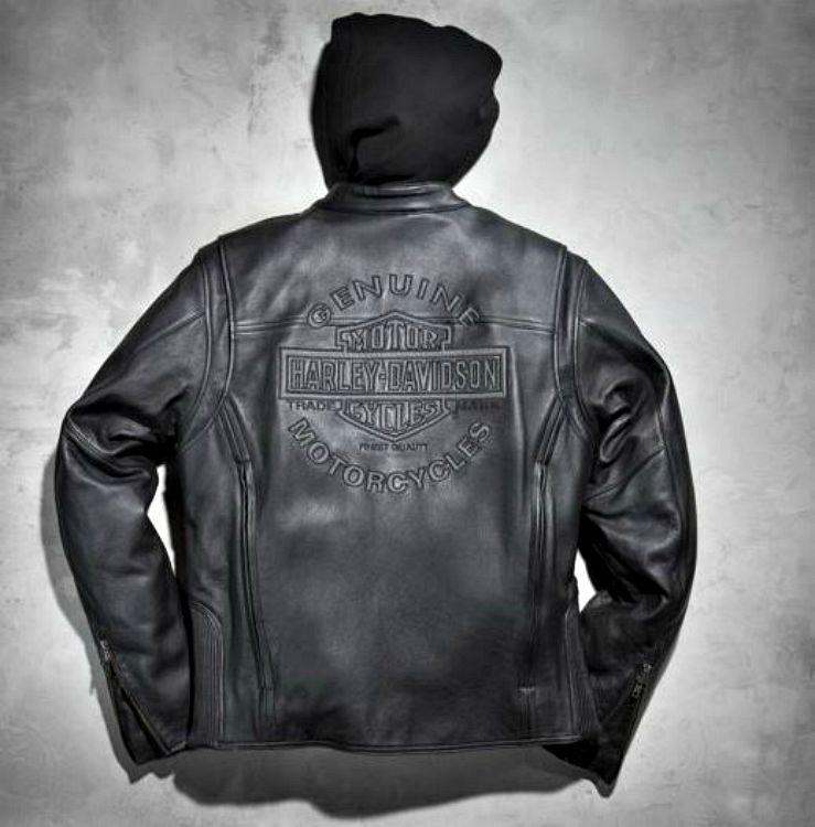 harley-davidson® men's reflective road warrior 3-in-1 leather