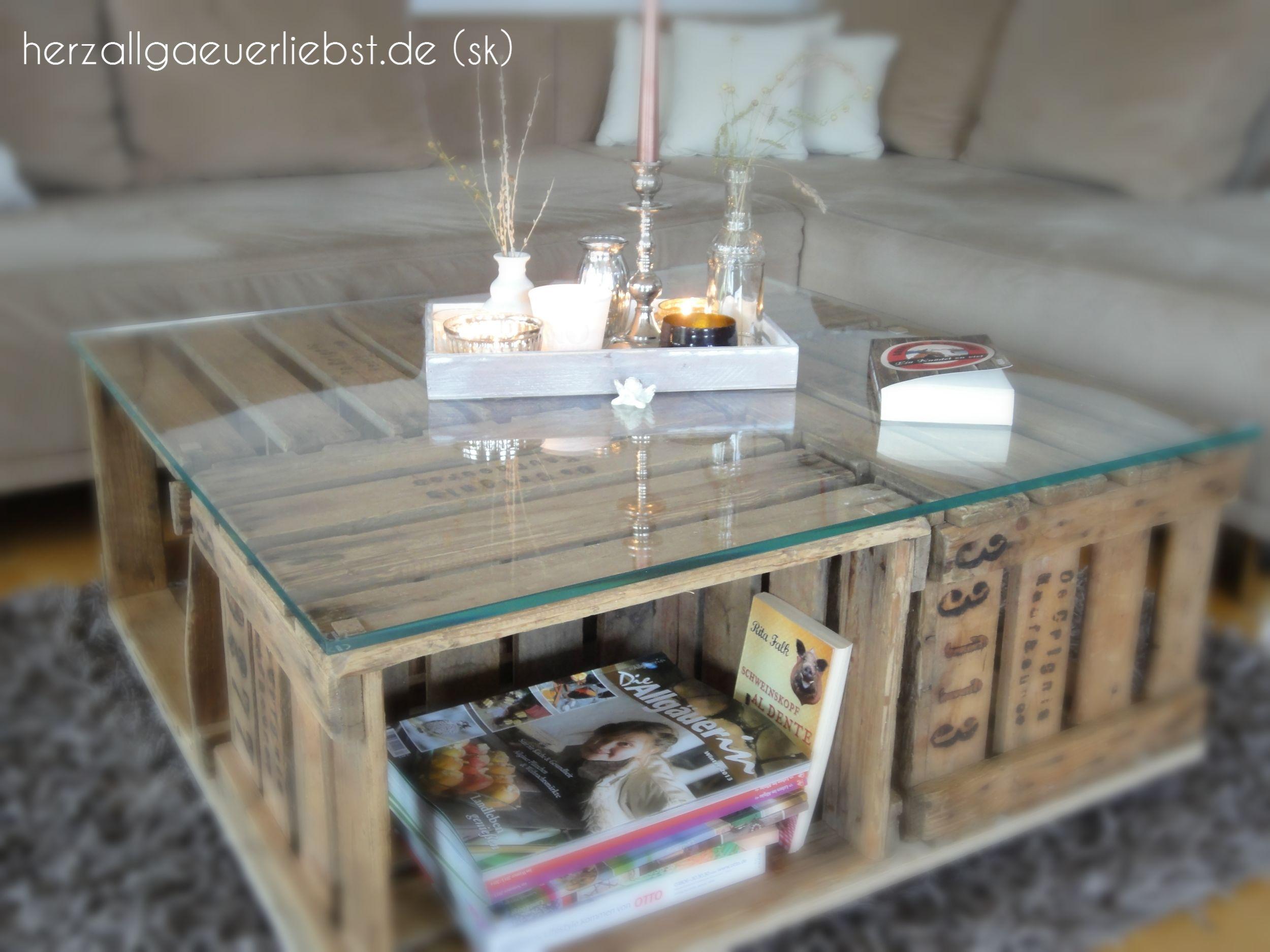 Wohnzimmertisch aus alten weinkisten einrichten diy pinterest wohnzimmer m bel und tisch - Wohnzimmertisch weinkisten ...