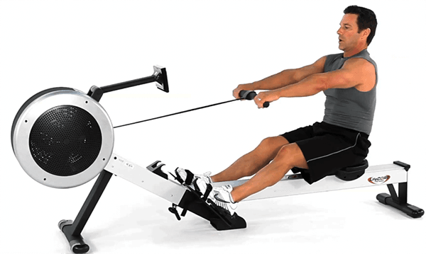 Rowing machine abs workout review by garage gym
